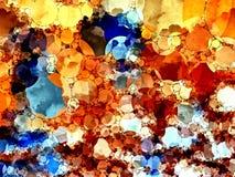 Abstrakt textur med cirklar Royaltyfria Bilder