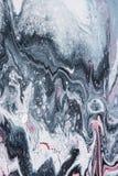 Abstrakt textur med grå och vit olje- målning Arkivfoton
