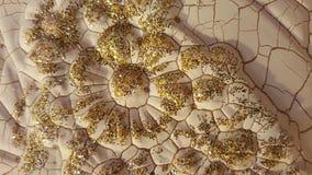 Abstrakt textur med guld- linjer Royaltyfria Foton