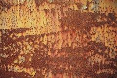 Abstrakt textur och bakgrund av den rostiga stålplattan Royaltyfria Foton