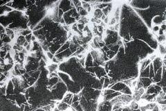 Abstrakt textur som är svartvit på tygbakgrund Arkivfoton