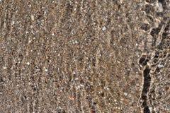 Abstrakt texturbakgrund av vatten och botten Royaltyfri Foto