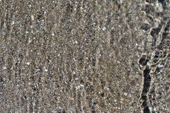 Abstrakt texturbakgrund av vatten och botten Arkivfoto