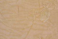 Abstrakt texturbakgrund med former av blommor Royaltyfria Foton