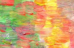 Abstrakt textured akrylowa ręka malujący tło Zdjęcie Stock
