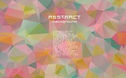 Abstrakt textured poligonalny pstrobarwny trójboka tło royalty ilustracja