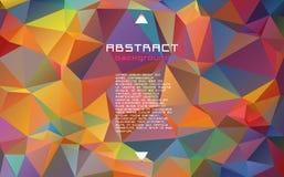 Abstrakt textured poligonalny rozmyty trójboka tło royalty ilustracja