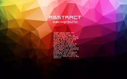 Abstrakt textured poligonalny rozmyty trójboka tło ilustracja wektor