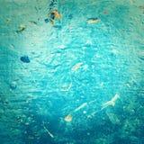 Abstrakt texturerad bakgrund för havsvatten i gammal grungestil. Bl Royaltyfri Foto