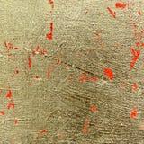 Abstrakt texturerat guld- för konst Arkivfoto