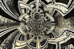 Abstrakt texturkomplexlabyrint Royaltyfri Foto