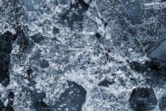 Abstrakt textursprickais av blåttfärg Royaltyfri Fotografi