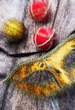 Abstrakt themed bakgrundsjul Royaltyfria Bilder