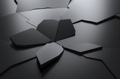 Abstrakt tolkning av sprucken yttersidabakgrund Royaltyfri Fotografi