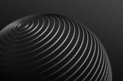 Abstrakt tolkning av tekniskt avancerad metall Shape Arkivfoto