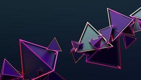 Abstrakt tolkning 3D av geometriska former Arkivbilder