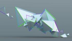 Abstrakt tolkning 3D av geometriska former Royaltyfria Bilder
