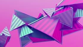Abstrakt tolkning 3D av geometriska former Royaltyfri Fotografi