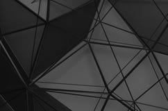 Abstrakt tolkning 3D av låg Poly svart yttersida Royaltyfri Foto