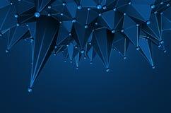 Abstrakt tolkning 3D av låg Poly yttersida Royaltyfri Fotografi