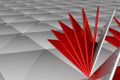 Abstrakt tolkning 3d av vit yttersida Fotografering för Bildbyråer