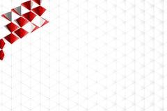 Abstrakt tolkning 3d av vit yttersida Arkivfoton