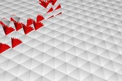 Abstrakt tolkning 3d av vit yttersida Royaltyfri Fotografi