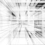 Abstrakt tolkning för arkitektur 3d Fotografering för Bildbyråer