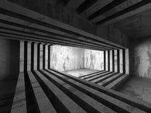 Abstrakt tom bakgrund för betongväggruminre stock illustrationer