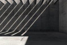 Abstrakt tom bakgrund för mörkerbetonginre vektor illustrationer