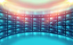 Abstrakt tom för utrymmebegrepp för studio 3D serie Arkivfoto