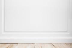 Abstrakt tom inre bakgrund, vit vägg Royaltyfria Bilder