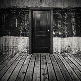 Abstrakt tom inrebakgrund för mörkt rum Royaltyfri Fotografi