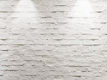 Abstrakt tom riden ut texturerad vit bakgrund för tegelstenvägg Arkivfoto