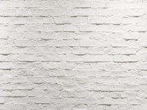 Abstrakt tom riden ut texturerad vit bakgrund för tegelstenvägg Arkivfoton