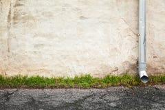 Abstrakt tom stads- bakgrund, gammal vägg Arkivbilder