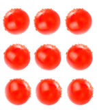 Abstrakt tomatcollage- eller matbakgrund Arkivfoton