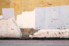 Abstrakt tomt övergett stads- borggårdfragment Arkivbilder