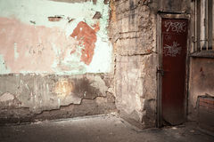 Abstrakt tomt övergett stads- inre fragment Arkivbild