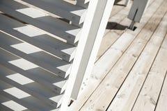 Abstrakt träarkitekturfragment Arkivfoto