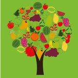 Abstrakt träd av frukter Royaltyfria Bilder