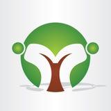 Abstrakt trädfolkdesign Royaltyfria Foton