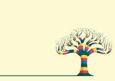 Abstrakt trädvektorillustration stock illustrationer