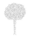 Abstrakt trädvektorillustration Royaltyfria Bilder