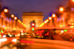 Abstrakt trafik på Champs-Elysees Fotografering för Bildbyråer