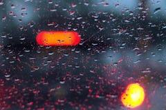 Abstrakt trafik, stadsnatt Bokeh Royaltyfri Bild