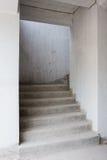 Abstrakt trappa för konkret byggnad Royaltyfria Foton