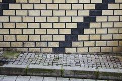 Abstrakt trappa, vide- vägggarnering illusion Arkivfoto
