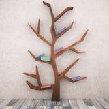Abstrakt träd med böcker Arkivfoto