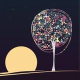 Abstrakt tree Arkivfoto